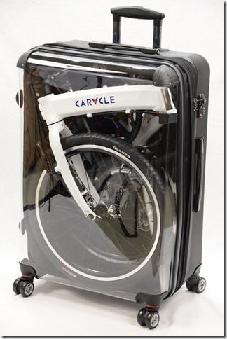航空無料輸送サイズのスーツケース収納例
